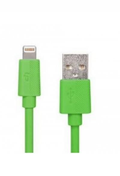 1 Meter Lightning Premium Ladekabel LP - grün