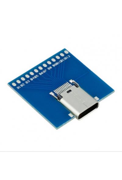 Premium USB C Buchse mit PCB