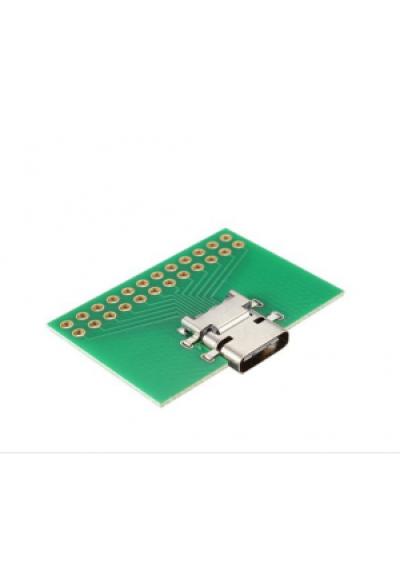 USB C Buchse mit PCB - through hole