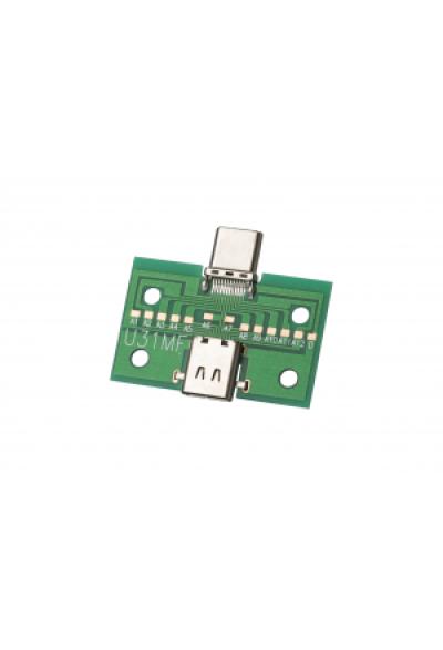USB C Buchse auf USB C Stecker PCB