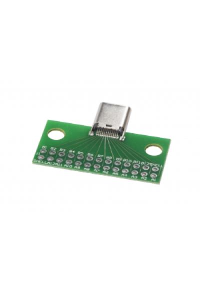 USB C Stecker mit PCB - through hole